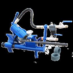 Chisel bit integral drill rod grinder